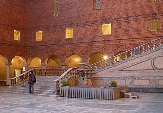 Swedish green marble - The grand staircase of Stockholm City Hall in Stockholm is made of Swedish green