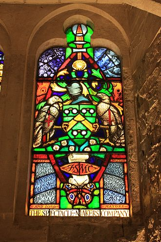 Worshipful Company of Spectacle Makers - Stained glass to the Company of Spectacle Makers, Guildhall, London