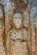 Standing Buddha Triad Carved on the Rock in Donmun-ri, Taean 04.JPG