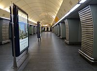 Stanice metra Karlovo náměstí, střední staniční tunel.jpg