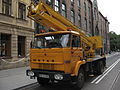 Star 1142-based cherry picker during Długa street reconstruction in Kraków (5).jpg