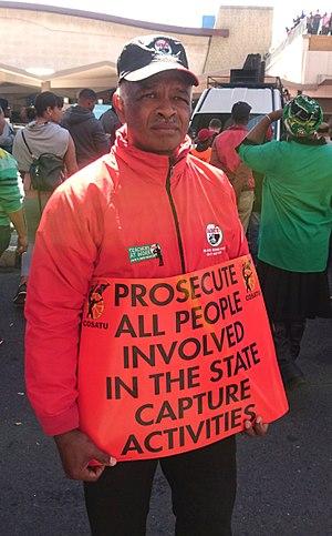 State capture - Image: State Capture COSATU protester