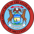 State seal of Michigan with text removed.png