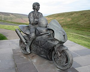 Sport in the Isle of Man - Statue of Joey Dunlop
