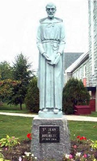 Jean de Brébeuf - Statue of Jean de Brébeuf at Trois-Rivières