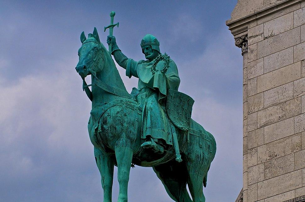 Statue of Louis IX, Basilique du Sacré-Cœur de Montmartre, Paris 2009
