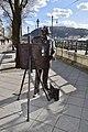 Statue of famous Hungarian painter Roskovics Ignac along the banks of Danube in Budapest, Hungary (Ank Kumar) 03.jpg
