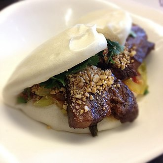 Taiwanese cuisine - Gua-bao with traditional fillings
