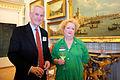 Stephen Chilcott and Margaret Heffernan at FT Goldman Sachs Business Book of the Year Award 2011.jpg