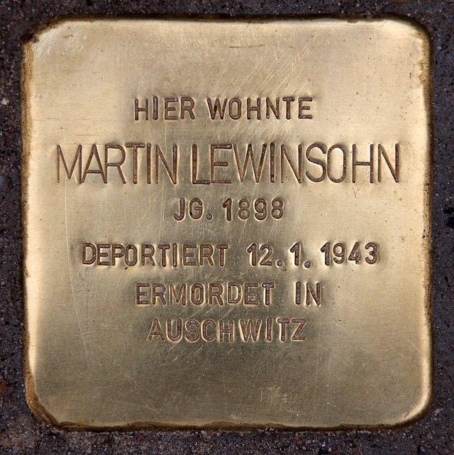 Liste der Stolpersteine in Berlin-Schöneberg - Wikiwand