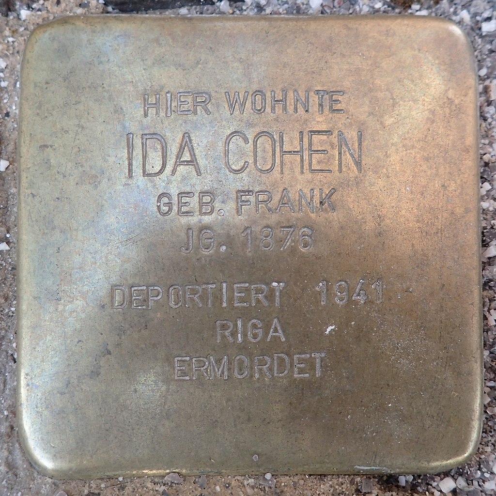 Stolperstein für Ida Cohen