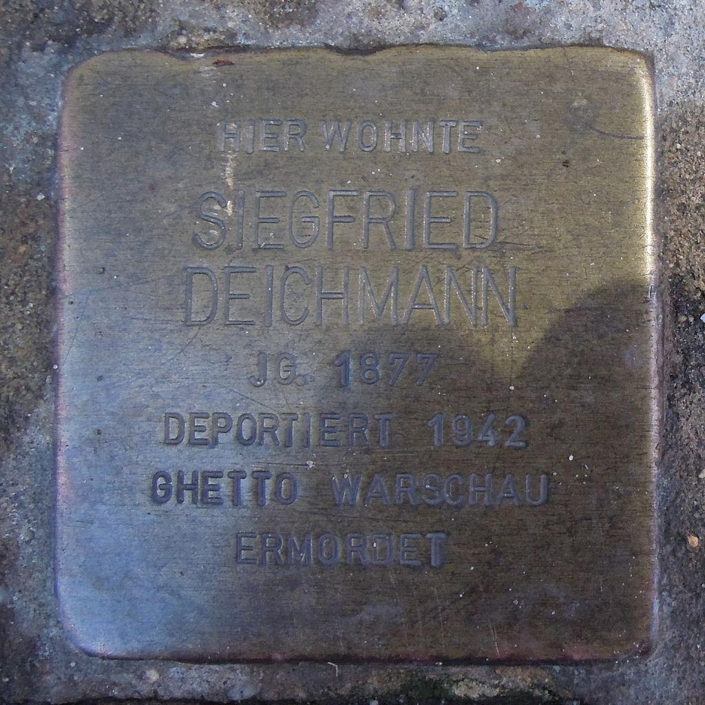 Stolperstein Hoya Lange Straße 51 Siegfried Deichmann