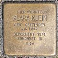 Stolperstein Klara Klein by 2eight 3SC1385.jpg