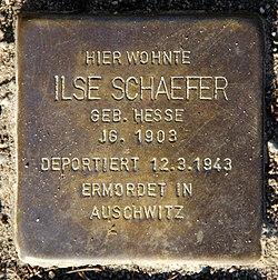 Photo of Ilse Schaefer (verw. Sternberg) brass plaque
