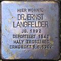 Stolperstein Salzburg, Dr. Ernst Langfelder (Pfeifergasse 4).jpg
