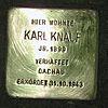 Stolperstein Wehrhofstraße 10 Karl Knauf