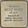 Stolperstein für Mihaly Weisz (Budapest).jpg