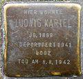 Stumbling stone for Ludwig Kariel (Pantaleonswall 81)