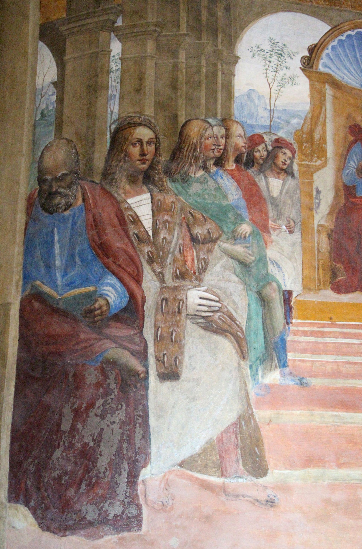 Storie di s. benedetto, 02 sodoma - Come Benedetto abbandona la scuola di roma 03