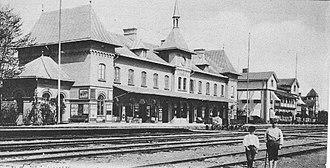 Wilhelmina Skogh - Image: Storvik Railroad Station Sweden
