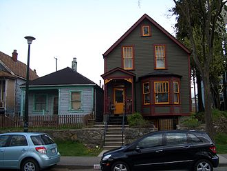 "Strathcona, Vancouver - Houses renovated with the attention to the ""true colours"" and non-renovated, in the neighborhood"