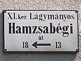 Street sign, Hamzsabégi út, 2017 Lágymányos (cropped).jpg