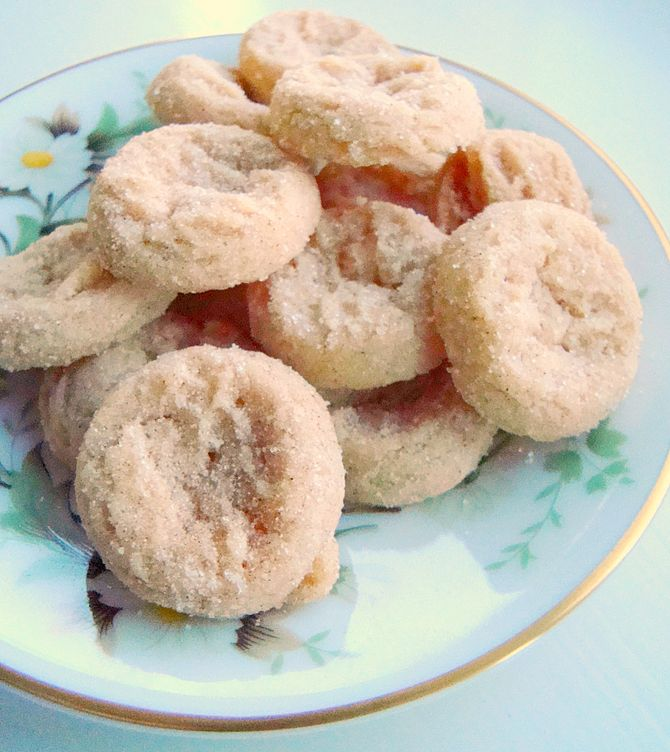 Here they are with raw sugar instead of powdered.