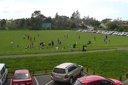 Field during a recreational touch ball game.