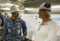 Susan Ford Bales, ship's sponsor and President Ford's daughter visits CVN 78 150615-N-AO748-046.jpg