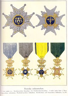 Orders, decorations, and medals of Sweden Wikimedia list article