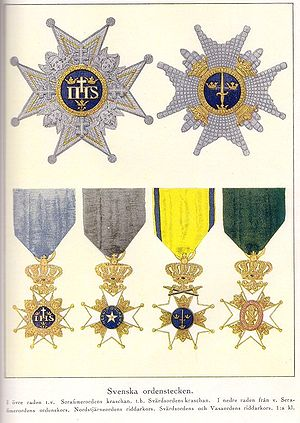 Orders, decorations, and medals of Sweden - Orders of Sweden constituting the Royal Order of Knights