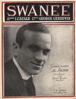 Swanee (song) - Image: Swanee Cover Gershwin Jolson