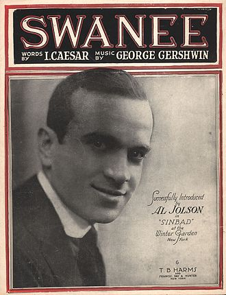 "Al Jolson - 1919 ""Swanee"" sheet music with Jolson on the cover"