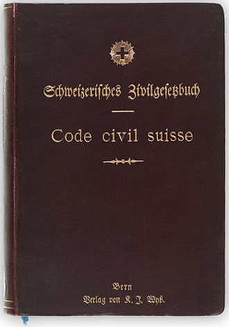 Civil code - The first edition of the Swiss Civil Code (around 1907). In 1911, it became the first civil code to include commercial law (Swiss Code of Obligations).