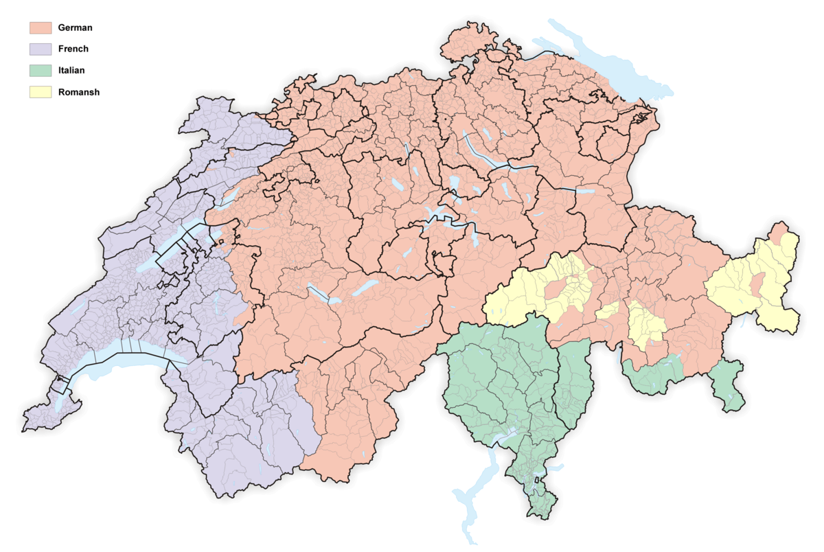 Languages Of Switzerland Wikipedia - Map 9f germany