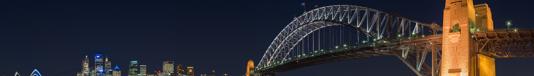 Sydney and the Harbour Bridge at night