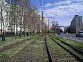 Szeged 4-es villamos Budapesti körúti szakasza 2010-03-28.JPG