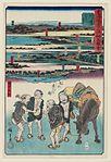 Tōkaidō gojūsan tsugi saiken zu'e, Kawasaki by Hiroshige.jpg
