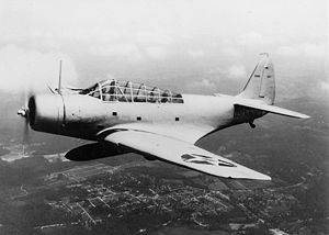 TBD-1 in flight Anacostia left side 1937.jpg