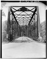 THROUGH VIEW OF NORTH END, LOOKING SOUTH - Bridge over Bird Creek, Spanning Bird Creek, Avant, Osage County, OK HAER OKLA,57-AVA,1-5.tif