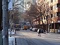 TTC bus 7695 proceeding east on The Esplanade, 2015 01 13 (2) (15660887873).jpg