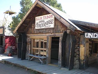 Horace Tabor - Tabor's general store, originally in Buckskin Joe, Colorado, now in the Buckskin Joe theme park near Canon City, Colorado