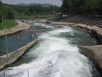The Tacen Whitewater Course on the Sava Tacen Whitewater Course 2.jpg