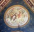 Taddeo gaddi, cappella bardi di vernio, cristo incorona ludovico di tolosa.jpg