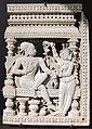 Tamil nadu, pannello decorativo da una porta, avorio, xvii sec. 01.JPG