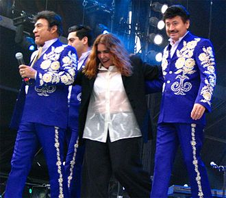 Tania Libertad -  Tania Libertad with Los Tigres del Norte on 17 May 2007