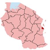 ダルエスサラーム州の位置