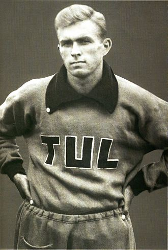 Finnish Workers' Sports Federation - 1948 Olympic gold medalist Tapio Rautavaara in the 1937 Workers' Olympiads.