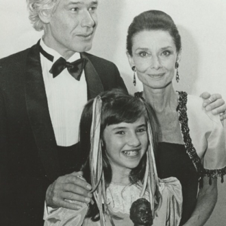 Tara McDonald - Tara McDonald, Audrey Hepburn and Paul Van Vliet at the 1st Danny Kaye Award, after winning the competition for England. (Maastricht, Holland)