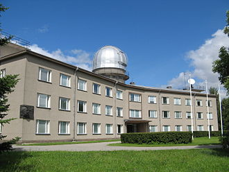 Tõravere - The main building of Tartu Observatory.
